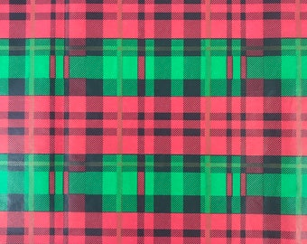 """Christmas Plaid Tissue Paper Gift Wrapping Flower Making 20""""x30"""""""