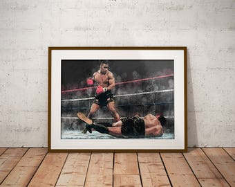 Mike Tyson - Iron Mike - Kid Dynamite -Poster - Boxing Art - Boxing Poster - Wall decor - Man Cave - Boxing