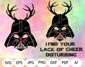 Darth Vader Reindeer SVG, Darth Vader DXF, Darth Vader Christmas, Star Wars SVG, Darth Vader Printable, Digital File, Instant Download