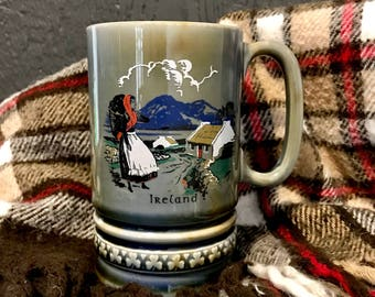 Vintage Reuge Swiss Musical Movement Tankard, Musical Tankard, Irish Ballad Cup, Vintage Tankard, Irish Tankard, Irish Musical Cup