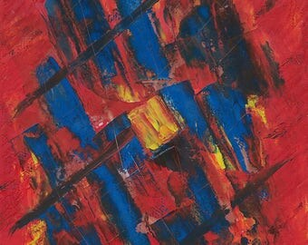 Fire and Ice - Print of Oil on Canvas