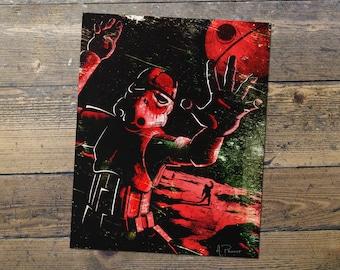 Zombie Stormtrooper - Star Wars - Fan Art - Stormtrooper Print - Gift for Him