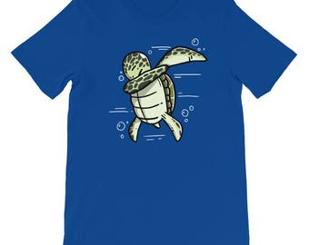 Cute Dabbing Sea Turtle T-Shirt Funny Pet Gift