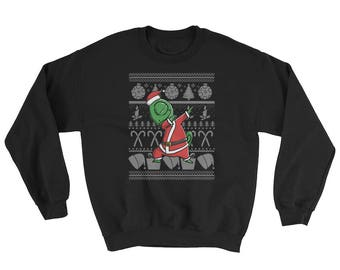 Funny Dabbing Chameleon Ugly Christmas Sweater Cute Pet Gift