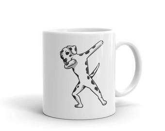 Cute Dabbing Dalmatian Mug Funny Dab Dance Dog Gift