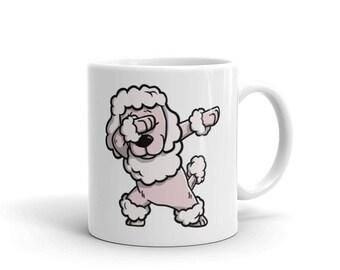 Cute Dabbing Poodle Mug Funny Dab Dance Dog Gift