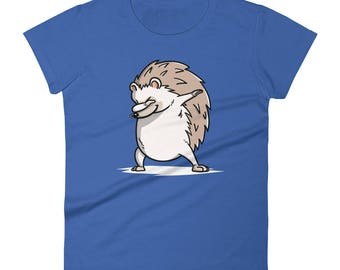 Funny Dabbing Hedgehog Shirt, Cute Dab Dance Pet Gift, Hedgehog Women's T-Shirt
