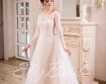 "Wedding dress ""Mermaid"" with a removable skirt, ivory"