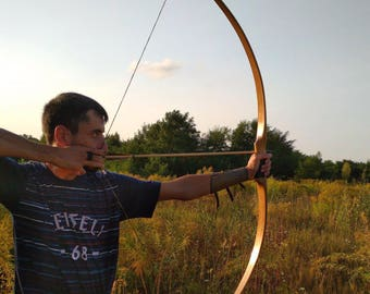Locust tree archery wooden flat selfbow