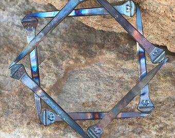 Handmade 8 point square star