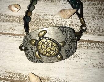 Hippie Turtle Beaded Bracelet