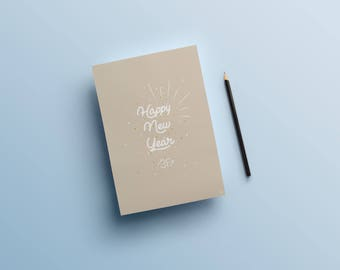 """Greeting card """"Happy New Year"""""""