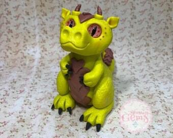 OOAK handmade polymer clay dragon art doll