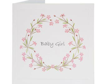 Spring 017- Baby Girl/Pink/Handfinished Greeting Cards