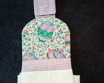 Easter quilted kitchen towel topper