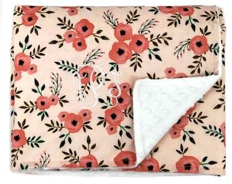 Custom Monogrammed Chenille Baby Blanket