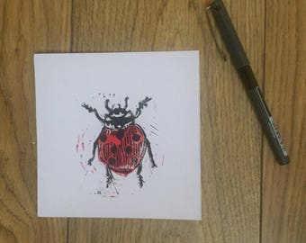 Ladybird Linoprint