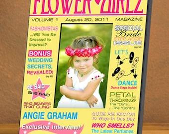 Personalized Flower Girl Magazine Frame - Flower Girl Frames - Personalized Flower Girl Photo Frames - Personalized Flower Girl Gifts