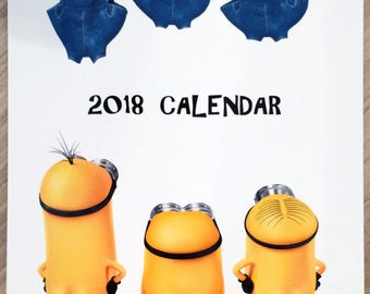 Minions of Despicable Me Wall Calendar 2018 A4 New Sealed