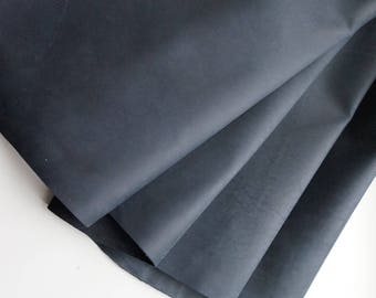 1.3-1.5mm thickness dark blue soft Crazy horse leather Real leather