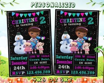 Doc McStuffins Invitation, Doc McStuffins, Doc McStuffins Party, Doc McStuffins Invite, Doc McStuffins Birthday Party, Doc McStuffins Card