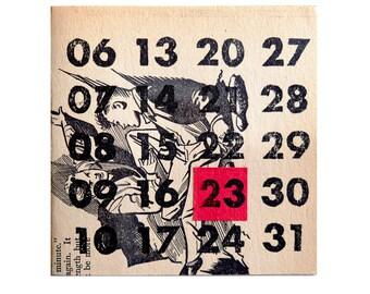 Set of 6 Custom LinoprintCard–Custom Birthday Cards–Custom Anniversary Cards–Set of 6 Cards and Envelopes–Vintage Paper cards