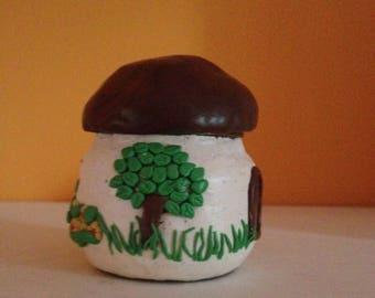 Hand-decorated jar