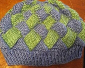 Entrelac Knit hat
