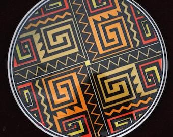 Traditional Handmade Turkish Ceramic Plate, Trivet