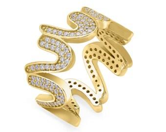 Elektra ring - yellow gold