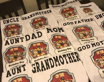Customized Birthday Shirts
