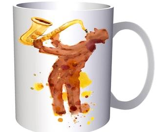 Music Jazz Saxophone Funny Novelty 11oz Mug b262