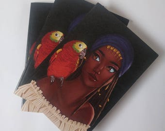 Black Pirate A6 Notebook - Princess Kay