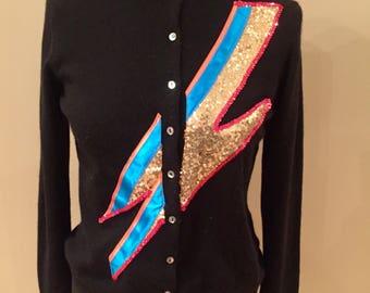 Ziggy Stardust Cashmere upcycled cardigan