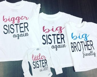 Brother/Sister shirts & onesies