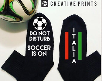 Italy italia world cup soccer game day so not disturb socks Mundial
