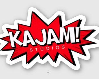 KAJAM! Studios Die Cut Sticker (Glossy Coated Vinyl)