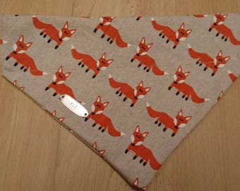 Dog Collar Bandana - Foxes