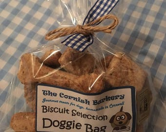 The Cornish Barkery Biscuit Selection Doggie Bag Present Gift Dog Treats Biscuits Natural Healthy Gourmet Homemade Handcrafted Meat Cheese