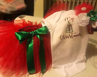 Christmas tutu outfit