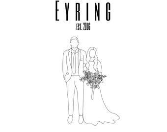 Custom Wedding/Couple Portrait (2 People)