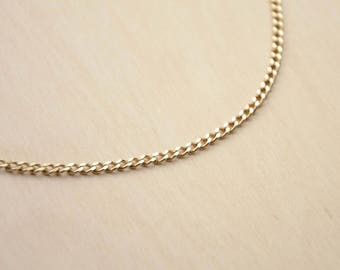 24 carat gold plated curb chain choker necklace