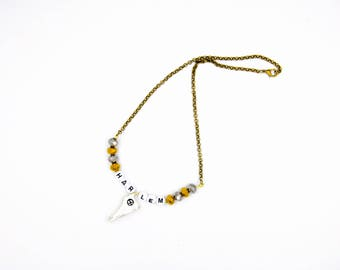 """Necklace with message """"Harlem"""""""
