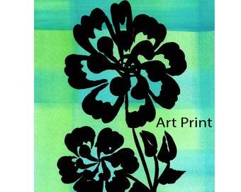 Art Print Rose Stencil Made in Montana Original Design Hand Painted Black Rose Kalispell Montana Christina Appling Montana Artist