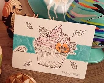 "Postcard ""Cupcake"""