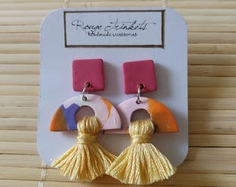Camea - Tassel drop earring