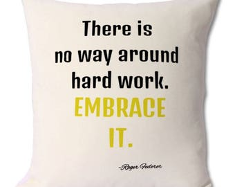 Roger Federer fan cushion with quote (perfect for Roger Federer fans and Tennis lovers)