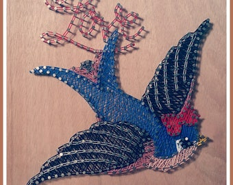 "Picture string Art ""swallow"""