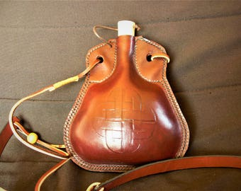 medieval leather flask
