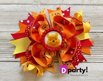 Winnie the Pooh Hair Bow, Winnie the Pooh Hairbow, Winnie the Pooh Birthday, Winnie the Pooh Outfit, Boutique Hair Bow, Winnie the Pooh